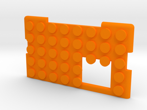 kmods BLOCKS MECH door in Orange Processed Versatile Plastic