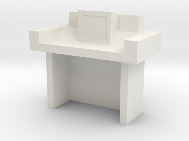 Command Center Desk Type 1 S2 (Space: 1999) 1/30 in White Natural Versatile Plastic