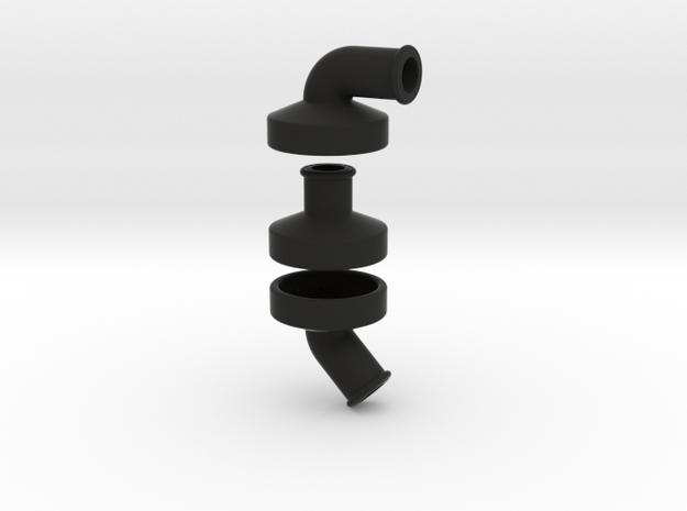 TurboKeychains_TK10_compressor-connector in Black Natural Versatile Plastic