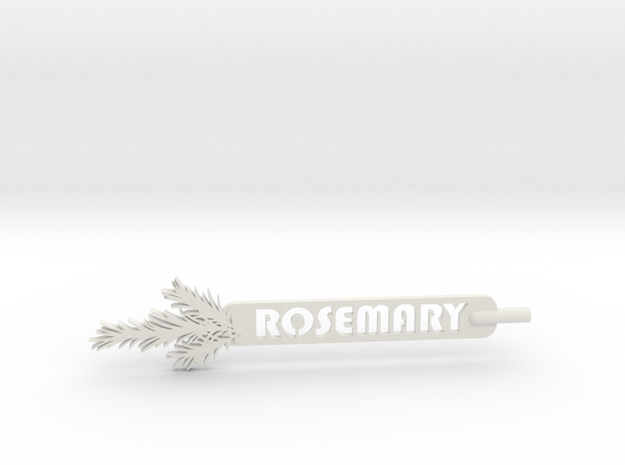 Rosemary Plant Stake in White Natural Versatile Plastic