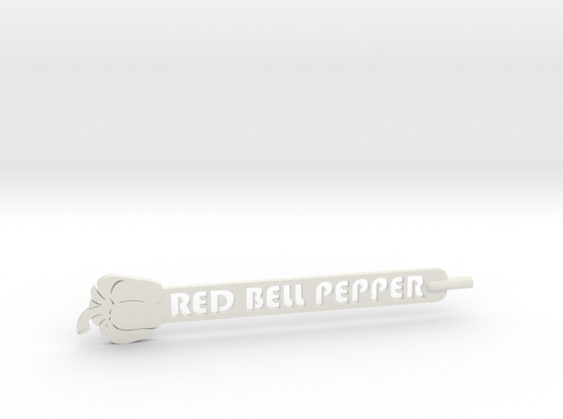 Red Bell Pepper Plant Stake in White Strong & Flexible