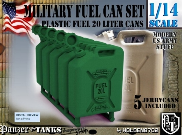 1-14 Military Fuel Can 5 Units