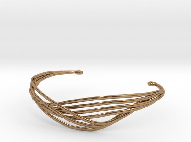Cecilie Cuff Bracelet in Polished Brass