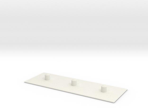 Plank in White Natural Versatile Plastic