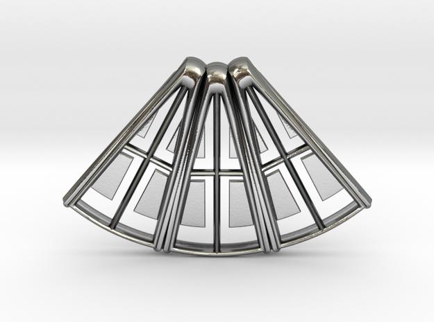 Hammershoi Pendant in Polished Silver