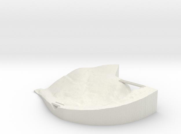 "JOR - Property Map w/Bridges: 1""=50' Scale in White Natural Versatile Plastic"