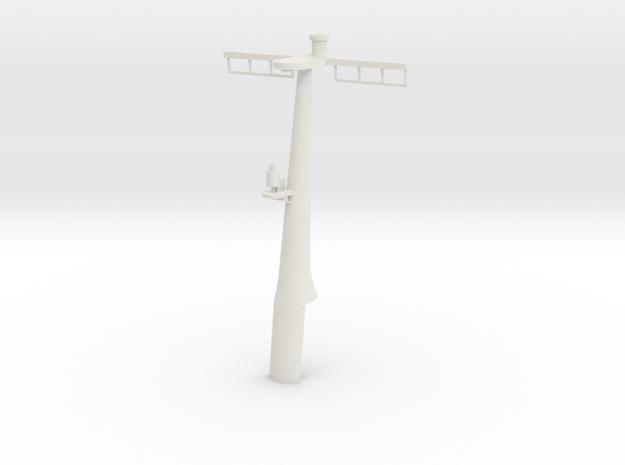 1/96 scale Hamilton Mast Rear - Pre-Framm in White Natural Versatile Plastic