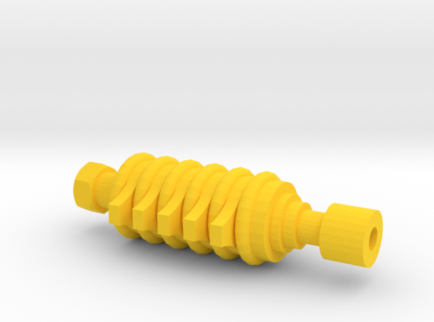 ARG Airsoft Muzzle Tip (14mm-) in Yellow Processed Versatile Plastic