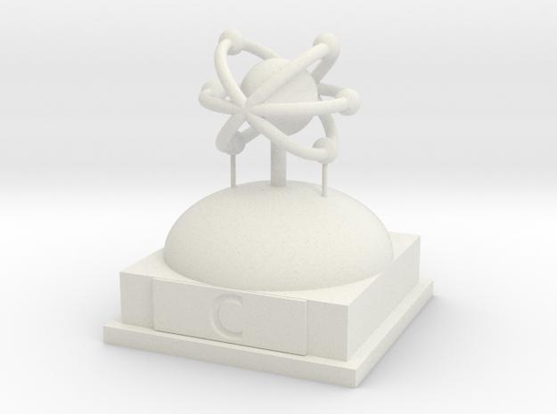 Carbon Atomamodel in White Natural Versatile Plastic