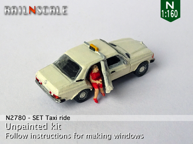 SET Taxi ride (N 1:160) in Smooth Fine Detail Plastic