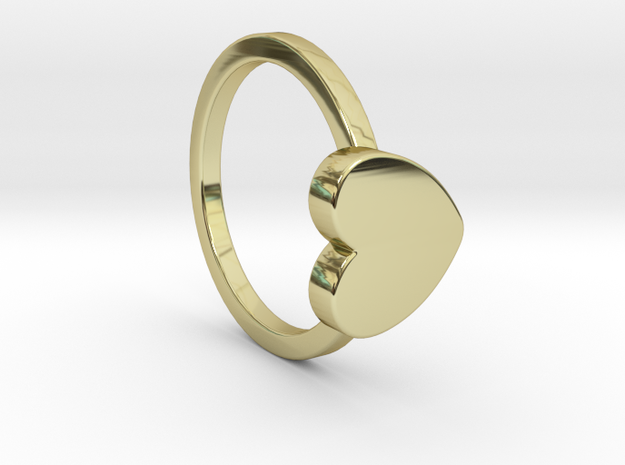 Heart Ring Size 5 in 18k Gold Plated
