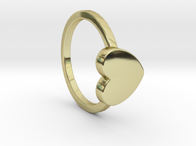 Heart Ring Size 5.5 in 18k Gold Plated