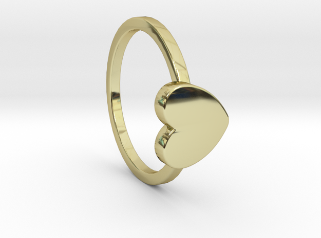 Heart Ring Size 8 in 18k Gold Plated