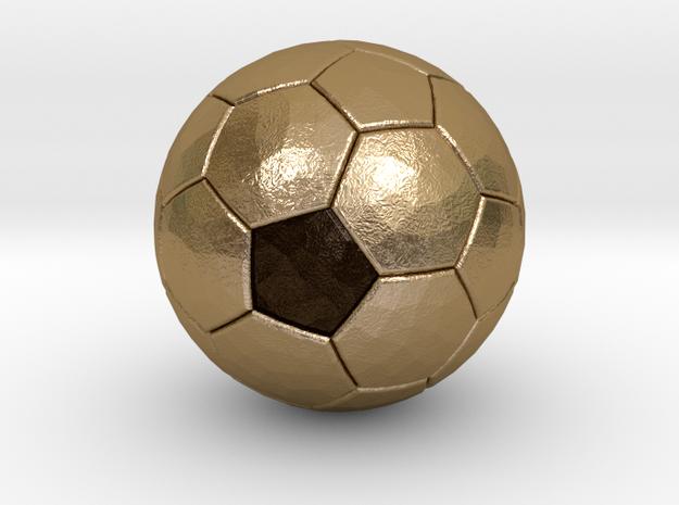 Soccer Ball Bottle Opener in Polished Gold Steel