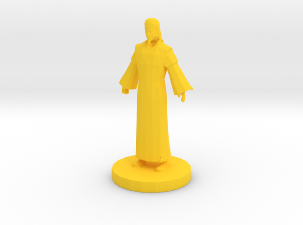 Chinese Bishop (3) in Yellow Processed Versatile Plastic