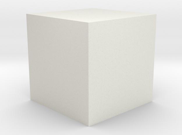 The Price Cube in White Natural Versatile Plastic