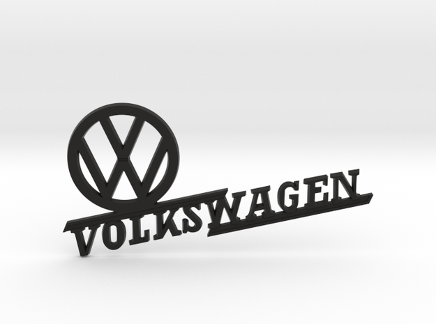 VW REAR FENDER BADGE in Black Strong & Flexible