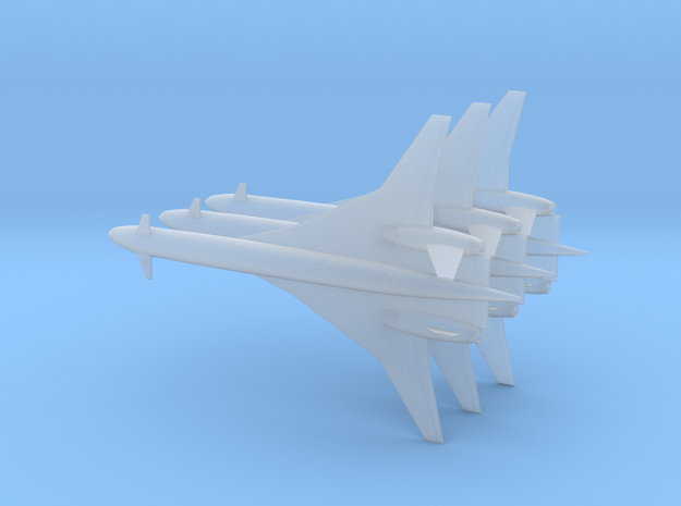 1/700 BOEING SONIC CRUISER 3-PACK in Smooth Fine Detail Plastic