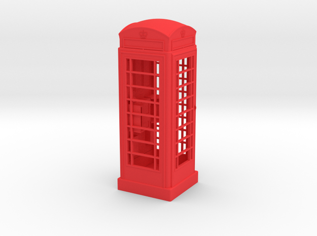 K6 Telephone Box (5cm) in Red Strong & Flexible Polished