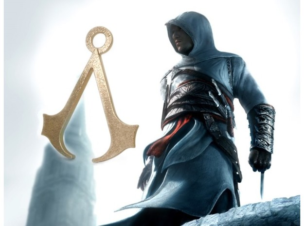 Assassin's Creed Pendant in Polished Gold Steel