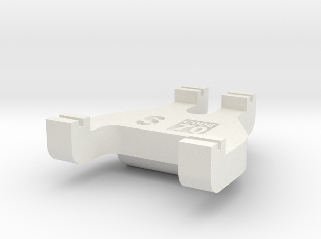 S Scale Track Gauge - Code 70 in White Natural Versatile Plastic