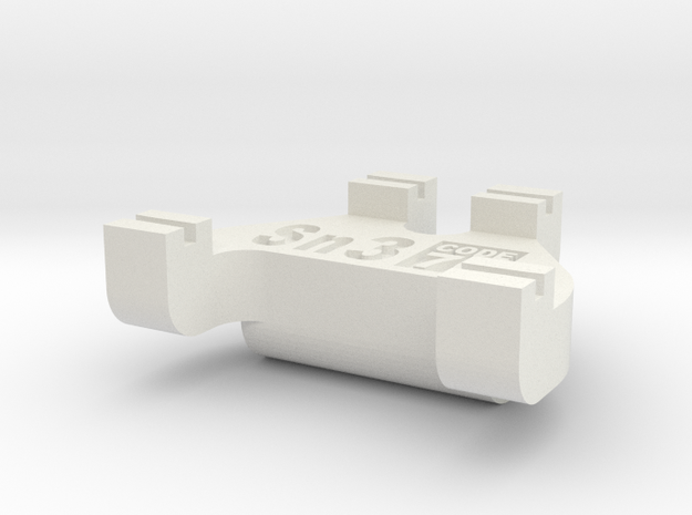 Sn3 Track Gauge - Code 70 in White Strong & Flexible