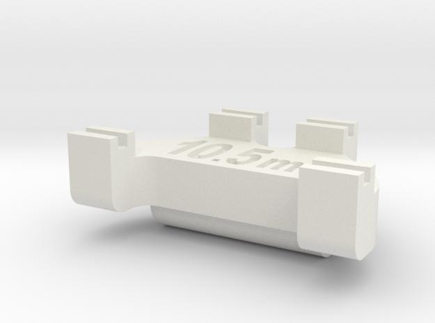 HOn3 Track Gauge - Code 83 in White Natural Versatile Plastic