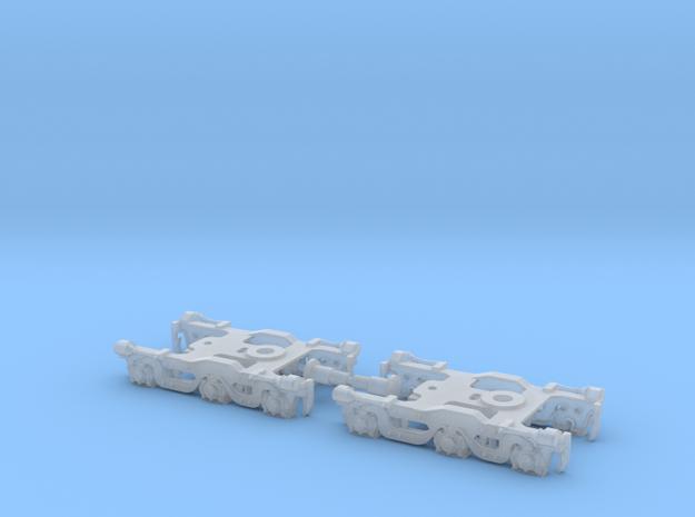Alco Dummy Tri-Mount Trucks - 1:160 - N Scale in Smooth Fine Detail Plastic