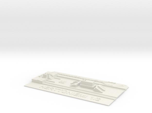 Herttoniemi Metroasema laituritaso in White Natural Versatile Plastic