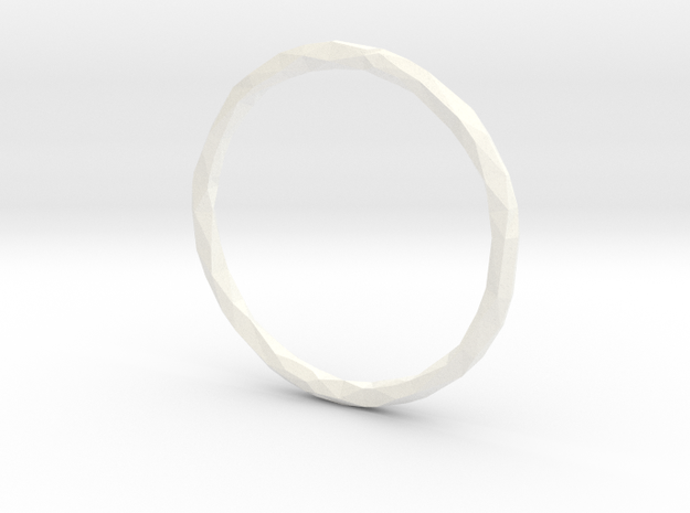 Poly Ring - sz 10 1/4 in White Processed Versatile Plastic