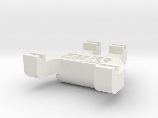 EM Track Gauge - Code 83 in White Natural Versatile Plastic