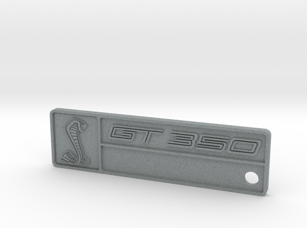 GT350 Keychain (No Chassis Number) in Polished Metallic Plastic