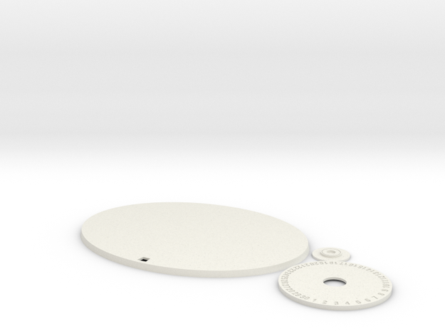 120mm by 92mm Oval Wound Tracking Base in White Natural Versatile Plastic