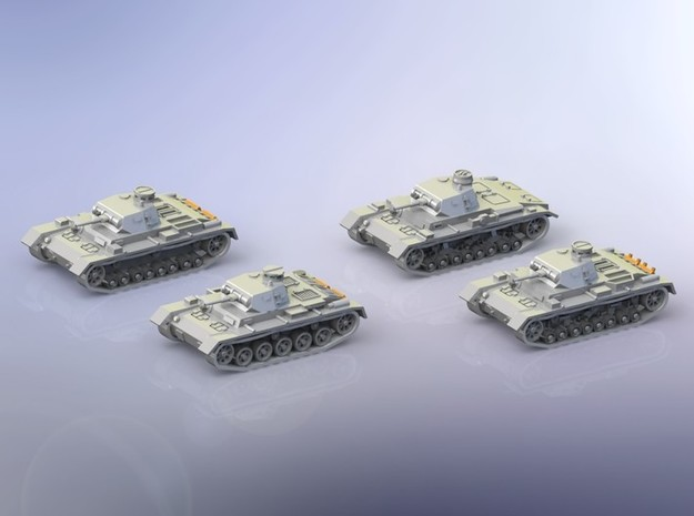 German Panzer III A-D Variants 1/144