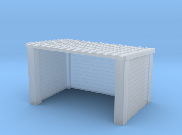 N Gauge Wood Bus Shelter in Smooth Fine Detail Plastic