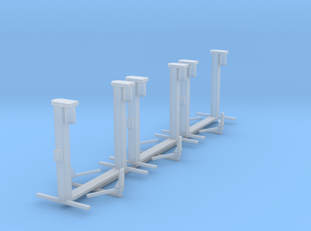 1/87 H0 scale car lift Hebebühne set of 3 in Smooth Fine Detail Plastic