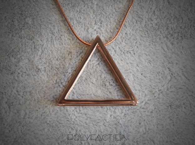 Wire ::: Triangle Pendant ::: v.01 in 14k Rose Gold Plated Brass