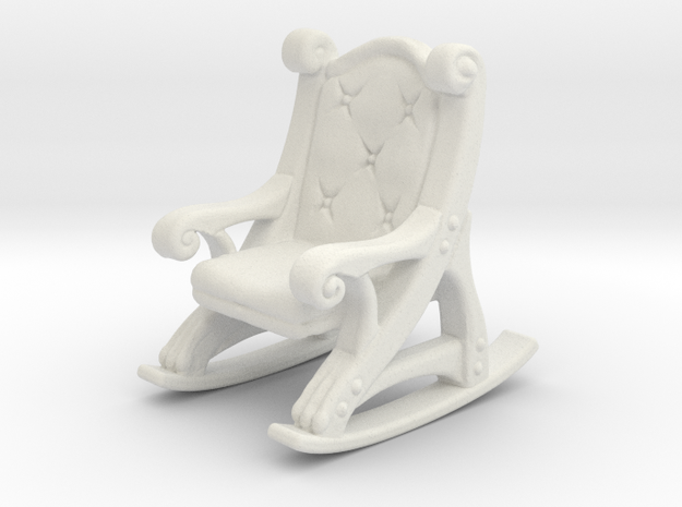 Tavern Rocking Chair in White Natural Versatile Plastic