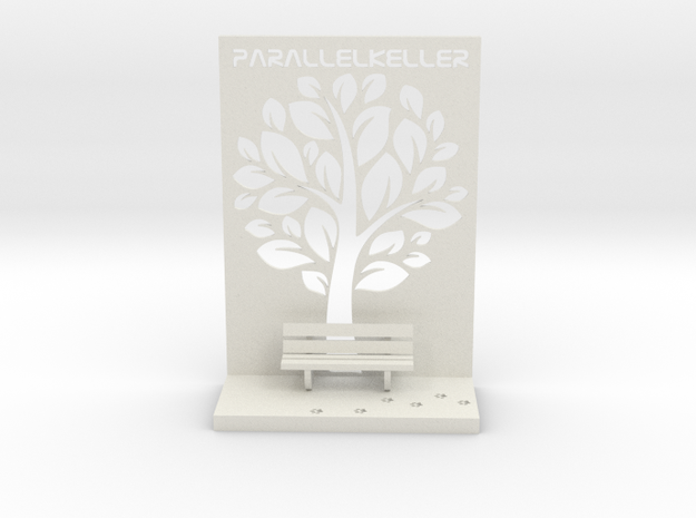 The Parallelkeller book rest in White Natural Versatile Plastic