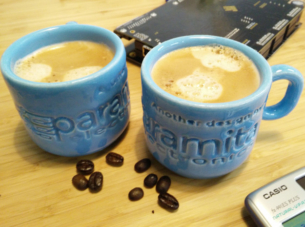 """Espresso cup - """"Another design by Paramita Electro in Gloss Blue Porcelain"""