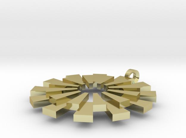 Sun Burst Pendant - Printed Sun in Fine Metals