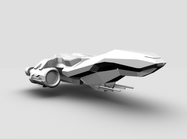 Spaceship in White Natural Versatile Plastic