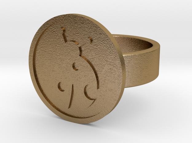 Ladybug Ring in Polished Gold Steel: 10 / 61.5