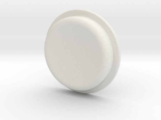 TLF# - Calm Button in White Natural Versatile Plastic