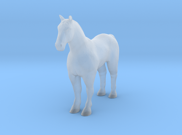 S Scale Horse in Smooth Fine Detail Plastic