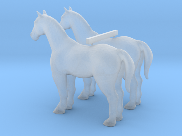 S Scale Horses in Smooth Fine Detail Plastic