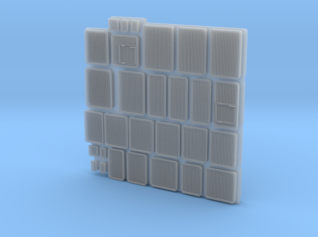 1/96 scale Burke Vents Set in Smooth Fine Detail Plastic
