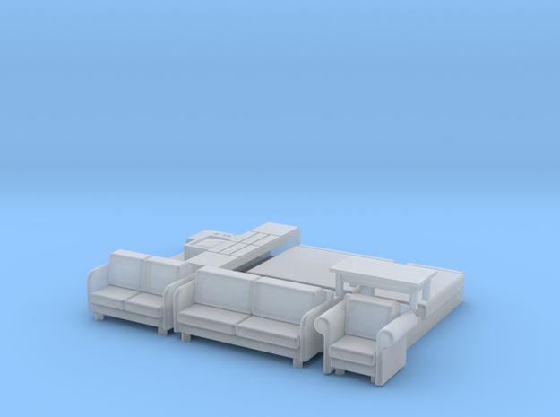 N Scale House Furniture 70s-80s in Smooth Fine Detail Plastic