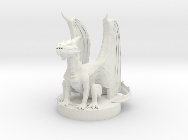 White Dragon Wyrmling in White Natural Versatile Plastic