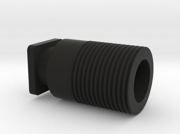 H8R Thread Adapter (14mm CCW) in Black Natural Versatile Plastic